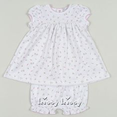 Kissy Kissy Garden Roses Short Sleeve Dress with Diaper Cover