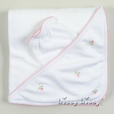 Kissy Kissy Garden Roses Towel with Mitt
