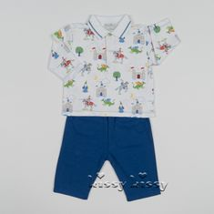 Kissy Kissy Prince Charming Pant Set w/Collar F17442-62C