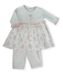 Kissy Kissy Tiny Dancer sweet ballerina printed dress with a ballerina on the top. Also comes with matching leggings.