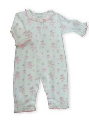 Kissy Kissy Tiny Dancer sweet ballerina printed playsuit with ruffles and no feet.