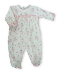 Kissy Kissy Tiny Dancer sweet footie with some ruffle and ballerina print.
