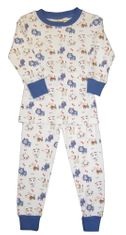 Luigi Dog Print Pajamas in Peruvian Cotton. Very soft and wash well.