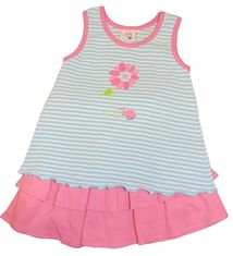Luigi Girls Flower Top and Skort Set with Flower Motif and Matching Skirt(with Shorts Underneath). Peruvian Cotton. Softest Cotton in the World.