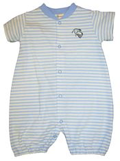 Luigi I Love Dogs One Piece Blue Stripe. Peruvian Cotton.