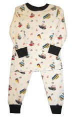 Luigi Nautical Print Pajamas in Peruvian Cotton. Very soft and wash well.