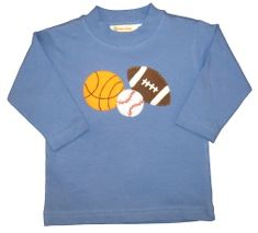 Luigi Sports Fan Motif on Blue Long Sleeve Peruvian Cotton Shirt.