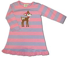 Luigi Sweet Baby Deer dress. Soft pima cotton.