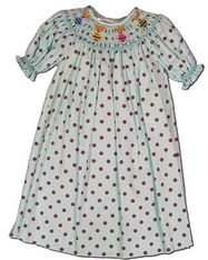 Mom n Me Honeybees turquoise bishop dress with dots. Super fun for the warm weather.