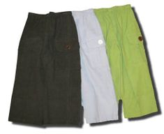 Remember Nguyen boys clothes Terrell corduroy cargo pants. Comes in light blue, brown, and green apple.