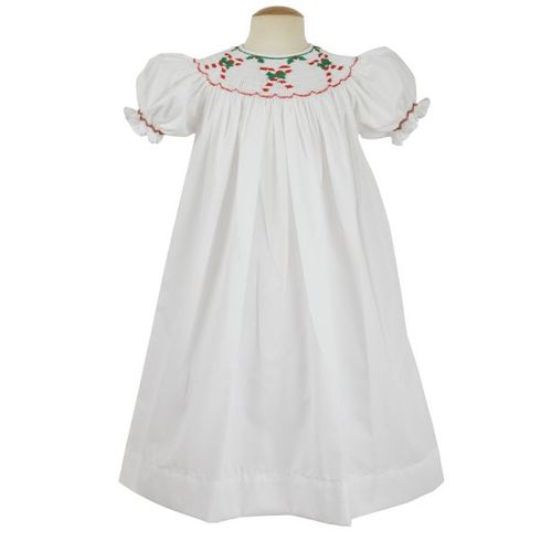 Remember Nguyen Candy Cane Bishop Dress-White