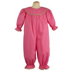 Remember Nguyen Cora Girl Long Romper-Fuchsia.