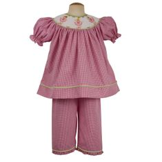 Remember Nguyen Dancin Ballerina soft pink checked bishop pant set.