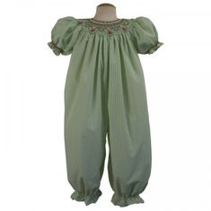Remember Nguyen Dylan Smocked Girl Long Romper.