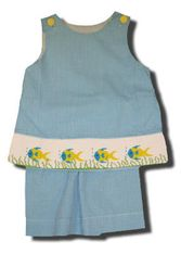 Remember Nguyen Fish short set with fish on the front. Super cute and matches the boys.