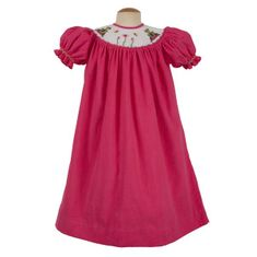 Remember Nguyen Frog hot pink bishop dress. Fun and comfortable. A great dress for your girl.