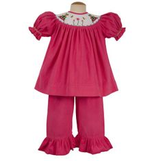 Remember Nguyen Frog hot pink bishop pant set. Fun and feminine.