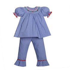 Remember Nguyen Ladybug Pant Set-Blue