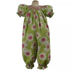 Remember Nguyen Paisley Smocked Girl Long Romper.