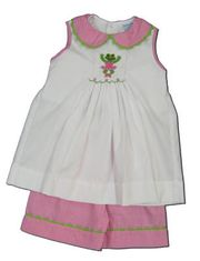 Remember Nguyen Toadally Ballerina short set with a smocked toad performing ballet on the front. Cute and prissy.
