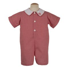 Remember Nguyen Travis micro checked red jumpsuit. Classic and matches the girls.