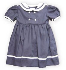 Royal Child Forever Sail navy sailor dress that matches the boys.