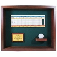 Ball & Scorecard Shadow Box Display-Cherry
