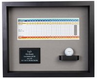 Ball & Scorecard Shadow Box Display-Black