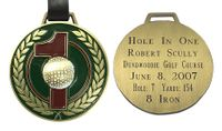 Brass Hole-In-One Bag Tag
