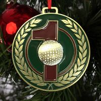 Brass Hole-In-One Ornament