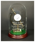 Glass Dome Trophy for Eagle, Double Eagle & Best Round - Cherry