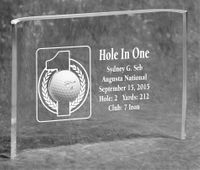 Hole-In-One 7x10 Acrylic Crescent Trophy