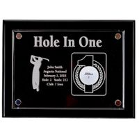 Hole-In-One 9x12 Floating Acrylic Plaque - Black