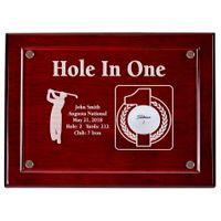 Hole-In-One 9x12 Floating Acrylic Plaque - Cherry