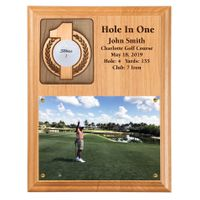 Hole In One Ball and Photo Plaque