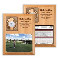 Hole In One Ball and Photo/Scorecard Plaque
