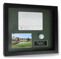 Hole-In-One Ball, Photo, and Scorecard Shadowbox