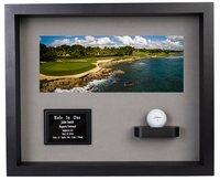 Hole-In-One Ball & Photo Shadow Box Display - Black