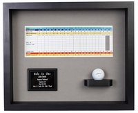 Hole-In-One Ball & Scorecard Shadow Box Display - Black