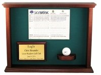 Eagle, Double Eagle, Best Round, Albatross Ball & Scorecard Shadow Box Display