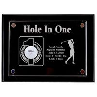 Hole-In-One Female 9x12 Floating Acrylic Plaque - Black