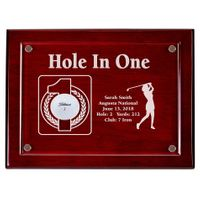Hole-In-One Female 9x12 Floating Acrylic Plaque - Cherry
