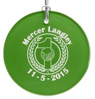 Hole-In-One Green Glass Holiday Ornament