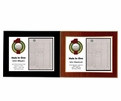 Hole In One Horizontal Laminated Plaque - Black