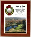 Hole In One Laminated Plaque - Red Mahogany