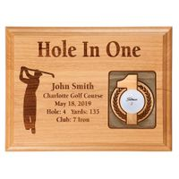 Hole-In-One 12x9 Laser Etched Plaque