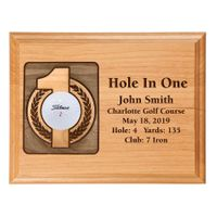 Hole-In-One 7x9 Laser Etched Plaque