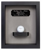 Hole-In-One Shadow Box with Ball Shelf-Black