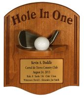 Hole-In-One with Iron Plaque - Light Cherry