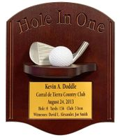 Hole-In-One with Iron Plaque - Dark Cherry